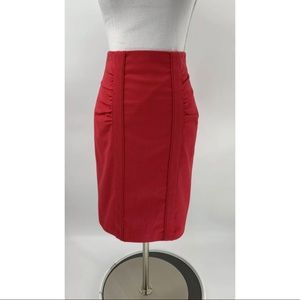 Nanette Lepore Pencil Skirt Pink Ruched Career 4